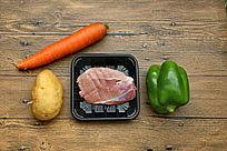 蔬菜与猪肉