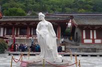 杨贵妃汉白玉雕塑像