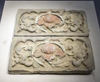 元缠枝牡丹纹砖雕