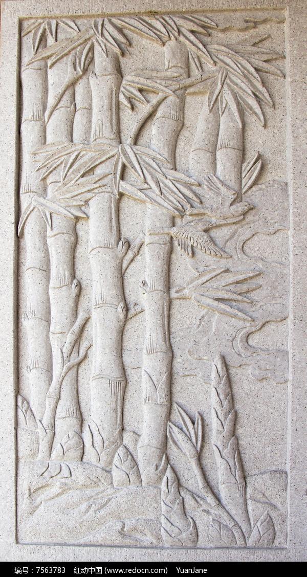 竹子浮雕图片,高清大图 雕刻艺术素材图片