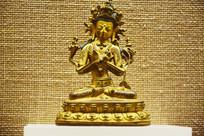 尊胜佛母鎏金铜像-佛像