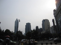 高楼大夏剪影风景图片