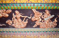 古铜色仙女浮雕-宗教人物图片