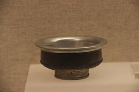 蒙古族包银木碗