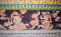 寺庙里的雕刻-宗教人物图片