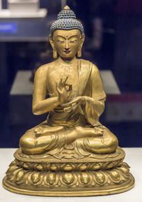 铜鎏金毗卢佛