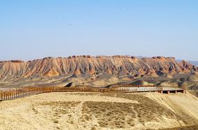 张掖丹霞地貌观景台