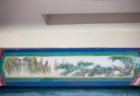 长廊彩绘之山中苍松图