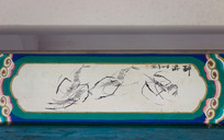 长廊彩绘之游虾图