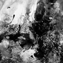 黑白装饰画 水墨画