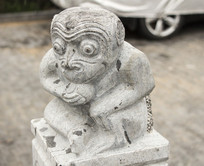 十二生肖申猴动物塑像