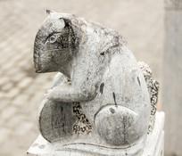 十二生肖子鼠动物塑像