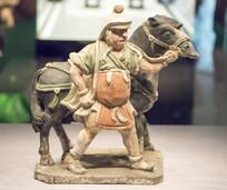 彩绘蒙古人驭马俑