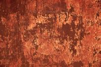 风雨侵蚀裂纹红色墙面