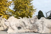 蒙古牛雕塑