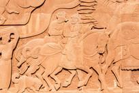 蒙古人骑马浮雕