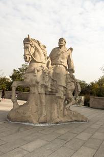 骑马的将军雕塑
