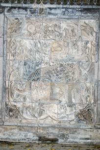 麒麟图案墙壁浮雕