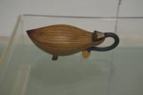 荷花叶子茶壶