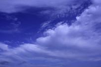 蓝色天际云层
