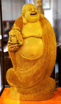 弥勒佛雕刻像