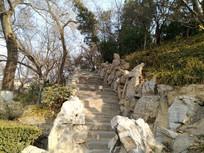 山间石头台阶