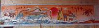 神话故事墙面彩绘