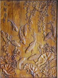 实木雕刻画