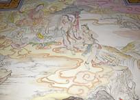 宗教文化墙绘图片