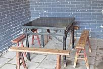 方桌和条凳图片
