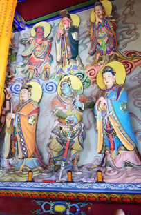 佛教神像雕塑图片