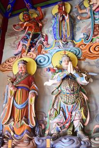 佛教尊者雕塑图片