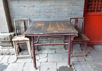 老式桌椅图片素材