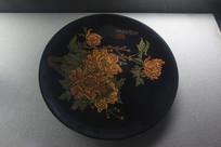 漆艺牡丹图装饰果盒
