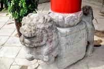 石狮柱基石图片素材