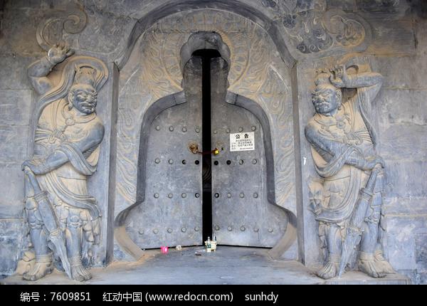 守门的天神雕刻图图片