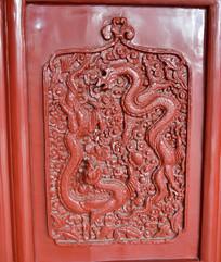 双龙戏珠木雕图片