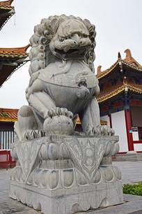 雄壮的石狮子图片