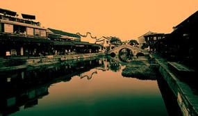 西塘古镇 石拱桥远景