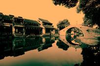 西塘古镇 石拱桥中景