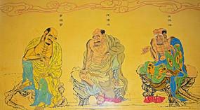 佛教人物罗汉像-十八罗汉