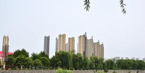高层小区建筑远观