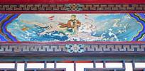 古建筑上的仙人绘画
