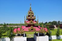 缅甸佛堂大门设计