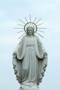 """玛利亚石雕像 石雕圣母玛利亚雕像  """"圣母玛利亚升天""""祭奠盛宴神像画"""