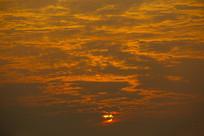 朝阳蓬勃日出
