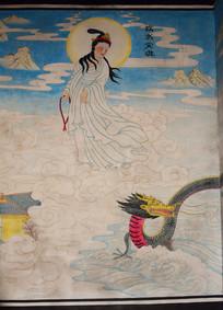 佛教文化墙绘图片