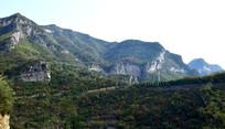 绿色的山脉自然景观