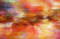暖色调抽象画