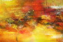 暖色调抽象油画大图
